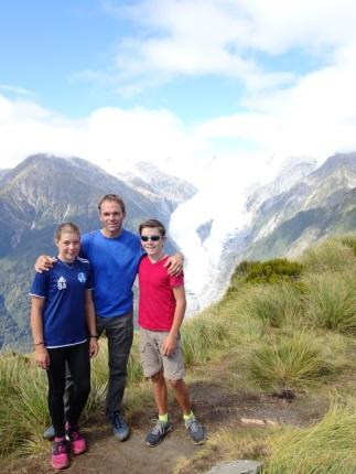 Au dessus du Glacier Franz Joseph, côte ouest de l'île du sud