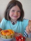 Mia 8 ans, et son dessert favori !